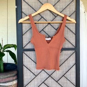 Better Be Rust Orange Fitted Tank XS